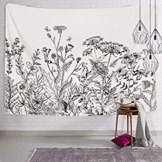 Herbs Plant Wild Flowers Tapestry Wall Hanging Floral Plants Tapestry Nature Scenery..