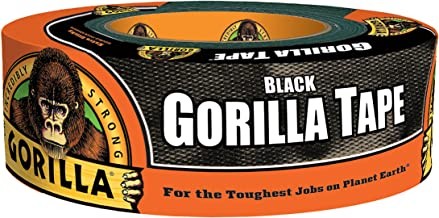 "Gorilla Tape, Black Duct Tape, 1.88"" x 38.5 yd, Black, (Pack of 1)"