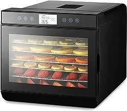 magic mill MFD-7100 Food Dehydrator Machine, 7 Trays Stainless Steel, Black