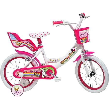 """Denver Unicorn Bicicleta, Niños, Blanco-Rosa, 16"""" (40,64 cm)"""