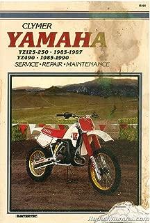 UM390 Used Yamaha YZ125 YZ250 1985-1987 / YZ490 1985-1990 Clymer Motorcycle Repair Manual