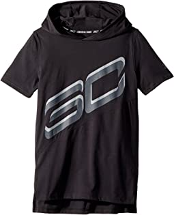 Steph Curry 30 Short Sleeve Hoodie (Big Kids)
