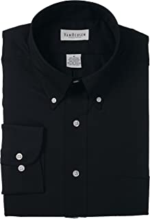 Van Heusen Mens Dress Shirts Regular Fit Twill Solid Button Down Collar