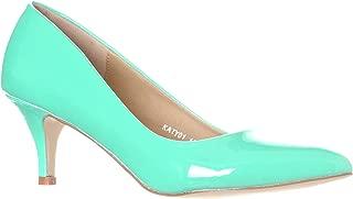 Women's Katy Pointed, Closed Toe Low, Kitten Heel Pumps