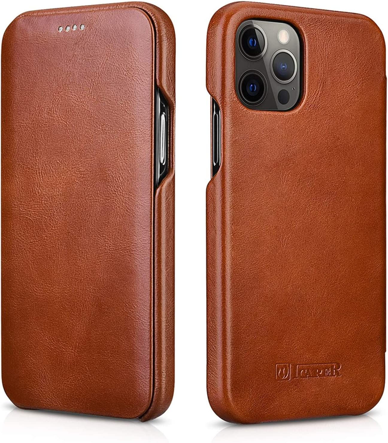 ICARER for iPhone Excellence 12 Pro Curve Genuine Case Selling Leather