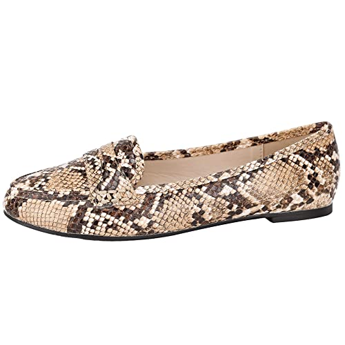 eca1761427c Greatonu Women s Pointed Toe Comfort Casual School Ballet Flat Loafer Shoes