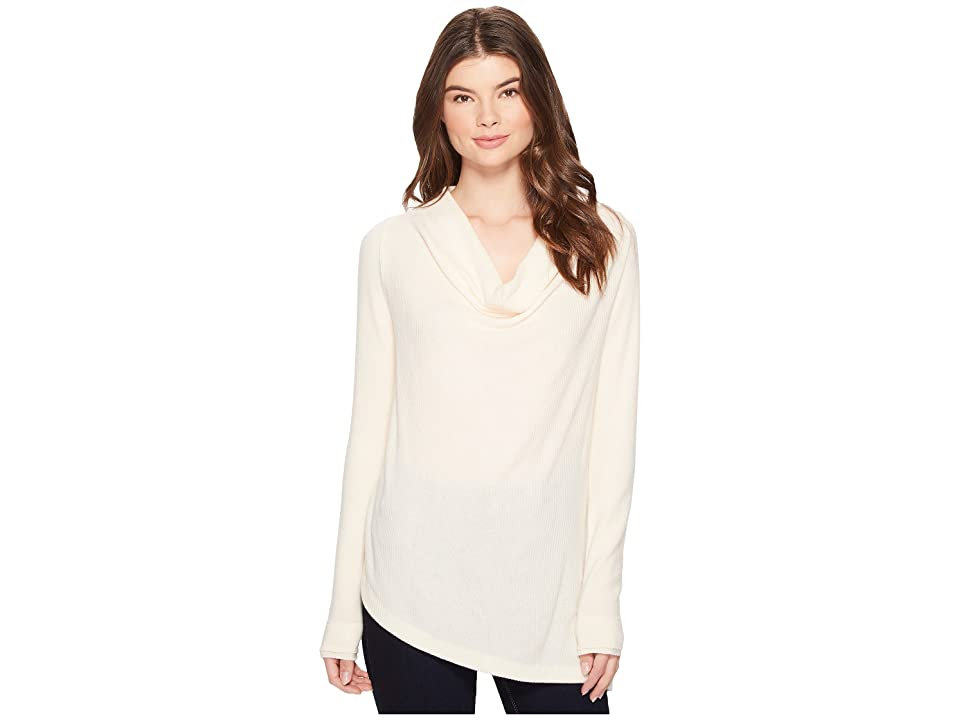Three Dots Drape Front Top (Cream) Women