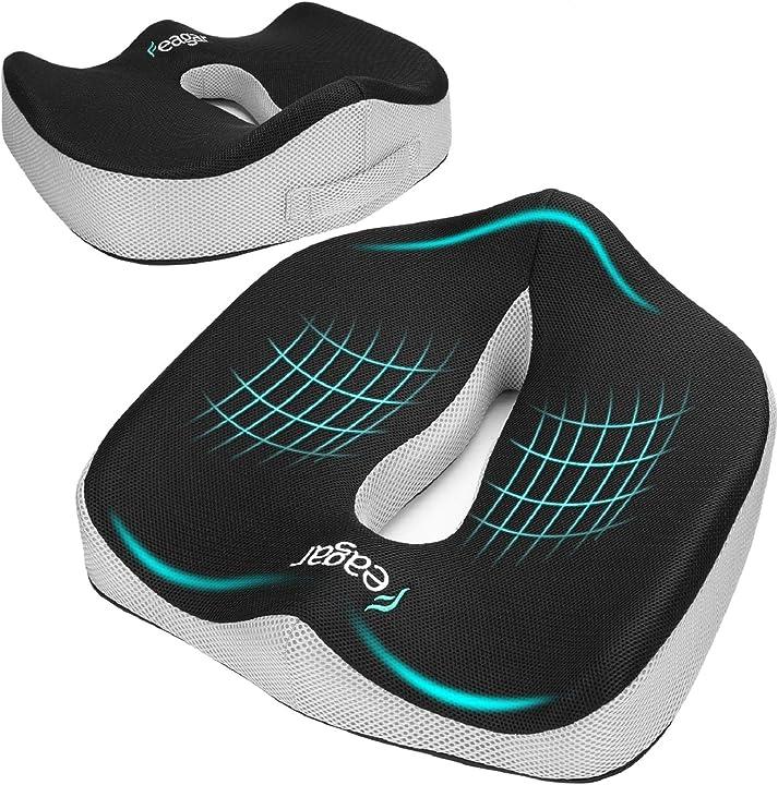 Cuscino per sedile memory foam feagar - cuscino per sedia auto B077G7D73D