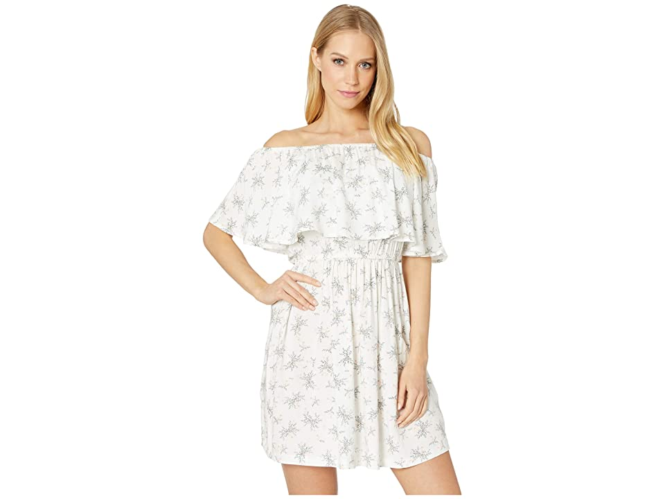 Roxy Mermaid Colors Off Shoulder Dress (Marshmallow Flowers Everyday) Women