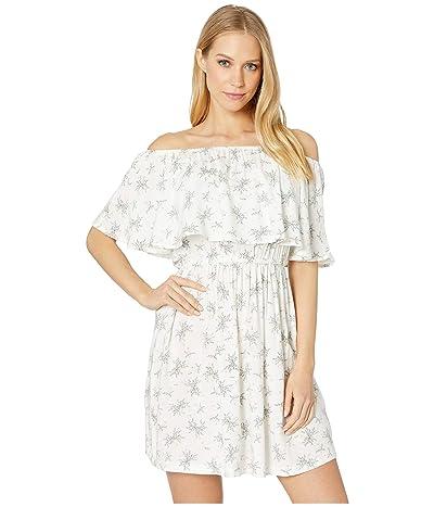 Roxy Mermaid Colors Off Shoulder Dress (Marshmallow Flowers Everyday) Women
