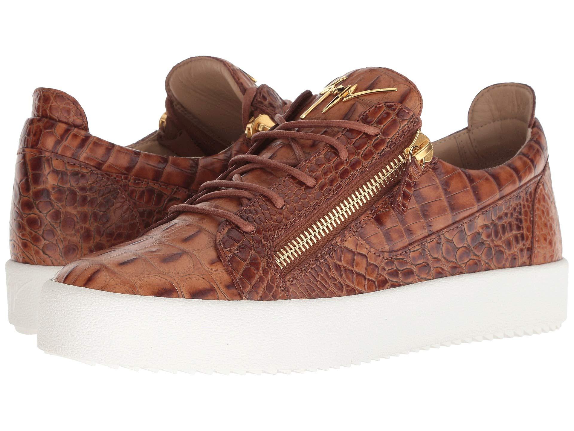 ec282506d24f6 Giuseppe Zanotti Frankie Pyton Low Top Sneaker at Luxury.Zappos.com