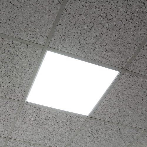 FASHIONGEN - 5 x Panneau LED EPISTAR Slim 60x60cm 48W 4320lm Cadre Blanc - Blanc Froid 6000k-6500K - Blanc, 6500 K