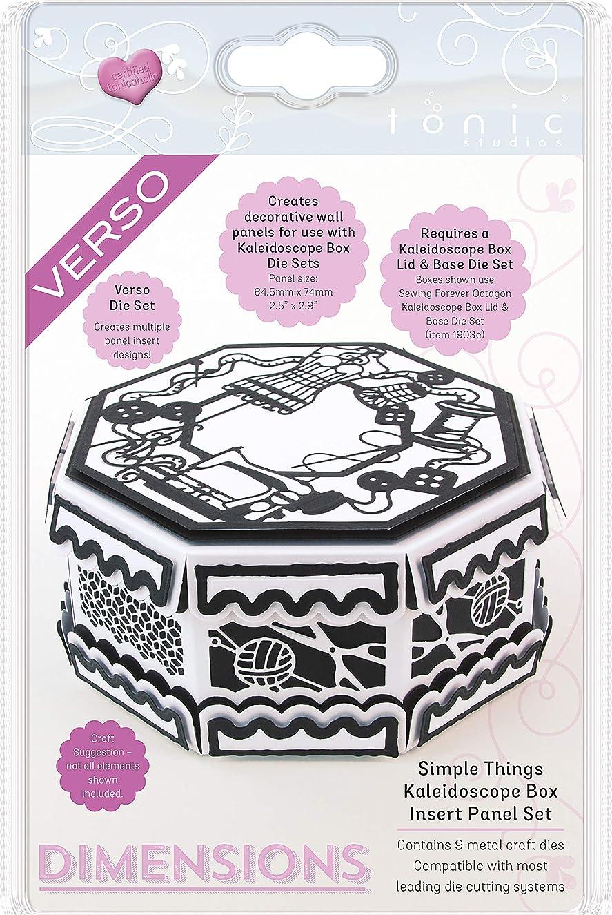TONIC STUDIOS Simple Things Kaleidoscope Box Insert Verso Dimensions Dies