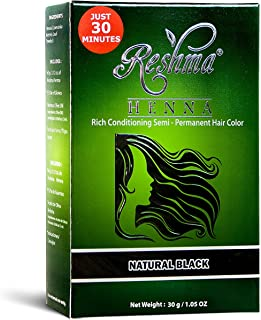 Reshma Beauty 30 Minute Henna Hair Color Infused with Goodness of Herbs (Natural Black, Pack Of 1)