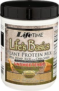 Life's Basics Plant Protein Vanilla Unsweetened LifeTime 1.1 lbs Powder