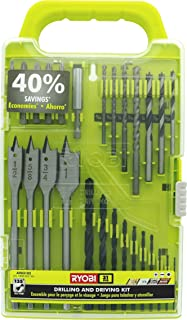 Ryobi A983102 31-Piece Black Oxide Drilling and Driving Bit Kit for Wood, Metal, Plastic, and Masonry
