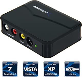 Sabrent VD-GRBR USB 2.0 Video & Audio Capture DVD Maker w/Real Time TV Display Dual Export with Capture Software (Disconti...
