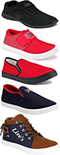 Shoefly Sports Running Shoes/Casual/Sneakers/Loafers Shoes for Men&Boys (Combo-(5)-1219-1221-1140-466-678)