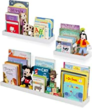Wallniture Philly 3 Varying Sizes Floating Shelves Trays Bookshelves and Display Bookcase – Wood Shelving for Kids Room an...