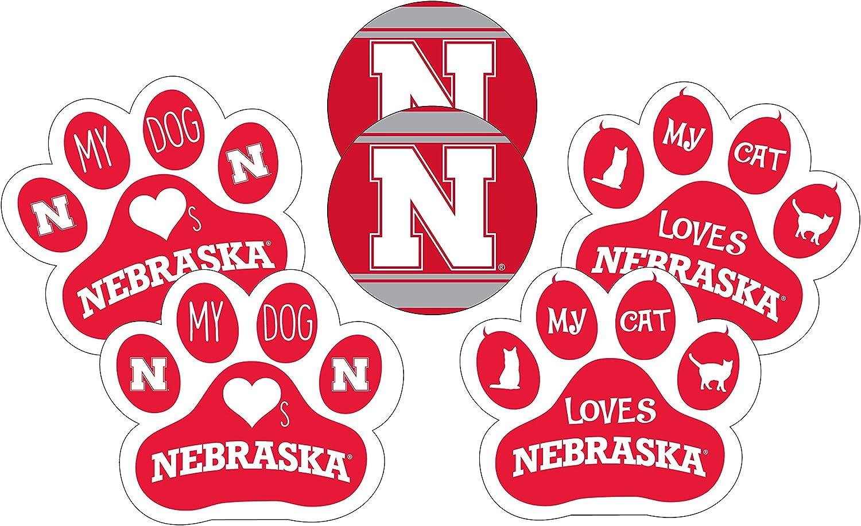 Nebraska Cornhuskers Shipping included Pet Lover's Piece 6 Set store Magnet