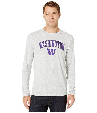 Champion College Washington Huskies Field Day Long Sleeve Tee (Oxford Grey) Men