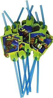 Amscan Teenage Mutant Ninja Turtles 8-Drinking Straw