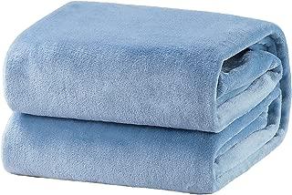Bedsure Fleece Blanket King Size Washed Blue Lightweight Super Soft Cozy Luxury Bed Blanket Microfiber