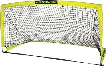 Franklin Sports Blackhawk Portable Soccer Goal - Pop-Up Soccer Goal and Net - Indoor or Outdoor Soccer Goal - Goal Folds For Storage - 12'x6', 9'x5.6', 6.5'x3.25