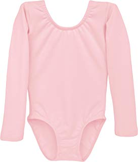 Dancina Leotard Long Sleeve Ballet Gymnastics Front Lined Comfy Cotton Kids Ages 2-10