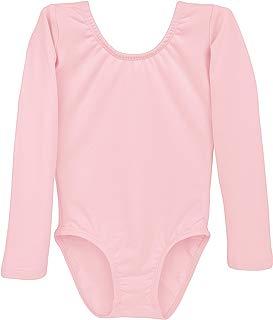 Dancina Leotard Long Sleeve Ballet Gymnastics Front Lined Comfy Cotton Kids Ages 2-10