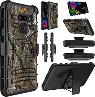 Elegant Choise LG G8 ThinQ Case, LG G8 Case, Hybrid Shockproof Heavy Duty Full Body Protective Case Rugged Holster Cover with Kickstand and Swivel Belt Clip for LG G8 / G820 (Camouflage)