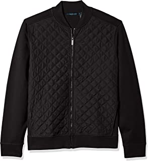 Perry Ellis Men's Big and Tall Quilted Nylon Full Zip Jacket