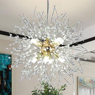 Modernas Cocina Comedor Lamparas de techo LED Lámpara Colgantes Creatividad Diseño Luz Salón Dormitorio Interior Decor Luces Altura ajustable Plafones para Baño Habitación Iluminación(Dorado)