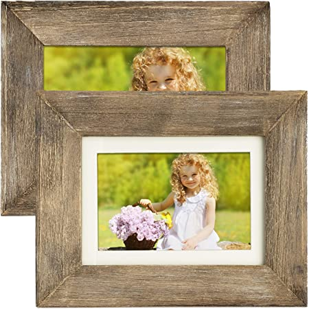 Red Rustic Painted Photo Frame Weathered Wood 4x6 5x7 8x8 8x10 Picture Frames Chippy Paint Barn Wood Look Farmhouse Photo Frame