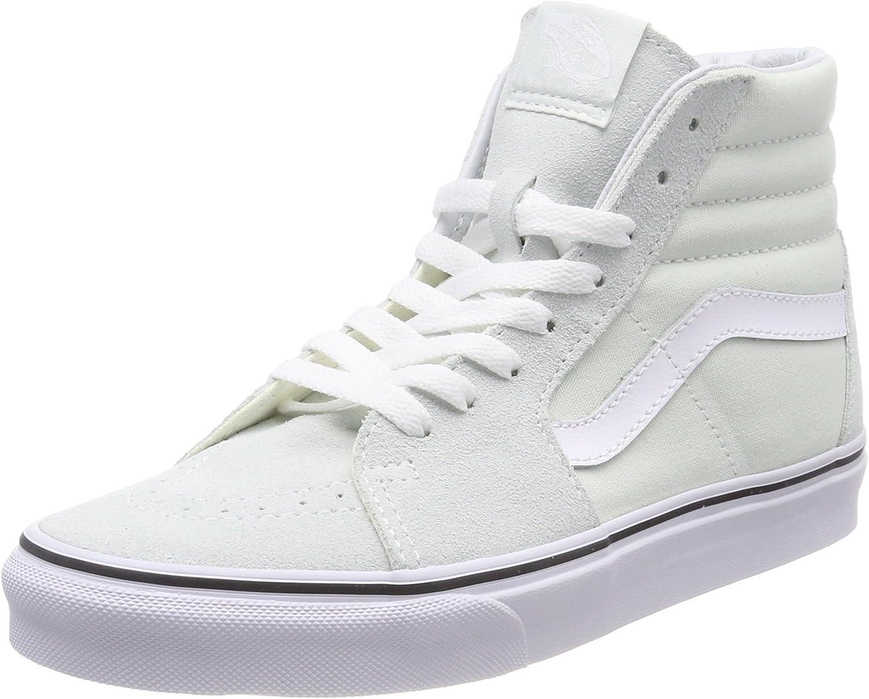 Vans Women's Sk8-Hi Hi-Top Trainers, Green (bluee Flower True White Q6l), 6.5 UK 40 EU