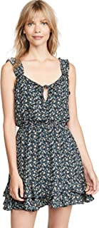 cupcakes and cashmere womens azura printed CDC ruffle dress with tie neck Dress