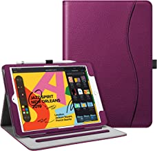 """Fintie Case for New iPad 7th Generation 10.2 Inch 2019 - [Corner Protection] Multi-Angle Viewing Folio Smart Stand Back Cover with Pocket, Pencil Holder, Auto Wake/Sleep for iPad 10.2"""" 2019, Purple"""