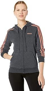 Women's Essentials 3-stripes Fleece Full-zip Hoodie Sweatshirt