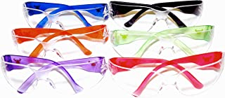 G & F 13016-6 EyePRO Scratch, Impact and Ballistic Resistant Safety Goggles with Clear Lens (6 Pack)