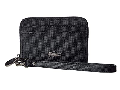 Lacoste Daily Classic Extra Small Wristlet Zip (Black) Handbags