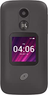 Net10 My Flip 2 4G LTE Prepaid Flip Phone (Locked) - Black - 4GB - Sim Card Included - CDMA