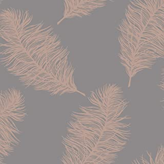 Fawning Feather Wallpaper Rose Gold/Grey Holden 12629