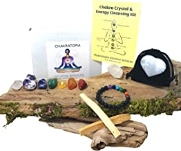 14 Piece Crystals and Stones Chakra Energy Cleansing Kit - Hand Curated in USA by Chakratopia