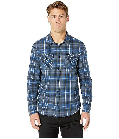 RVCA Watt Flannel Long Sleeve (Surplus Blue) Men