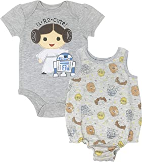 49819fd86a9e Star Wars Princess Leia Infant Baby Girls Bodysuit & Sleeveless Romper Set