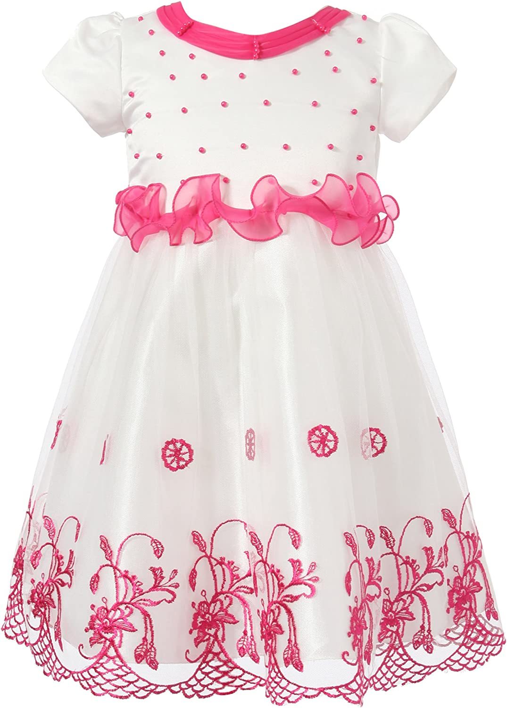 Richie House Girls' Princess Dress with Flowers RH1388