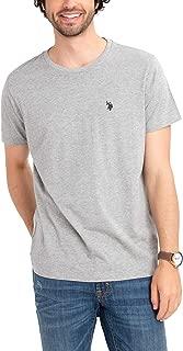 Mens Solid Small Pony Short Sleeve Crew Neck T-Shirt