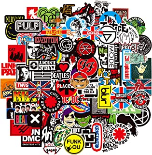 OCEAN Band Rock and Roll Music Stickers 100 Pack,Cool Decal Waterproof Stickers for Water Bottles Laptop Hydro flasks Skateboard