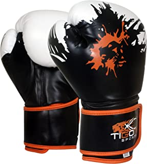 Tigon Sports Boxing Gloves with hand wraps Bag Punch Bag MMA rex leather sparring gloves