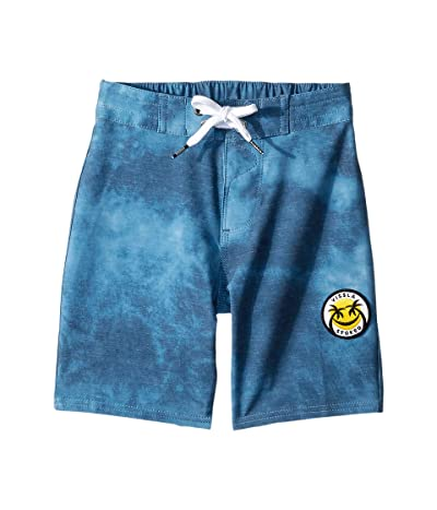 VISSLA Kids Solid Sets Boardshorts (Little Kids) (Strong Blue) Boy